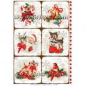 Rižev papir Božič in Novo Leto