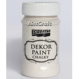 Akrilna kredna barva kremno bela 100 ml