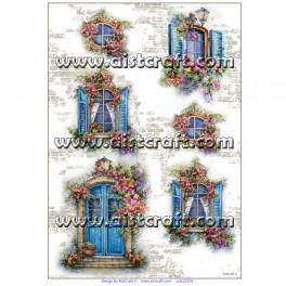Rižev papir Okna in Vrata