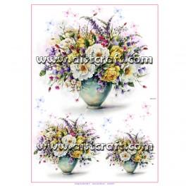 Rižev papir Šopek rož