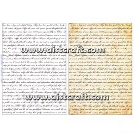 Rižev papir Pisave in pismo