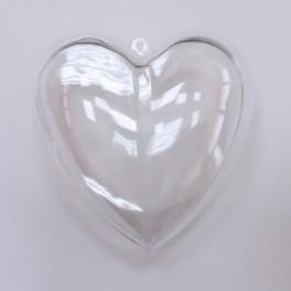 Plastično srce 10 cm, 2 dela z razdeliljcem